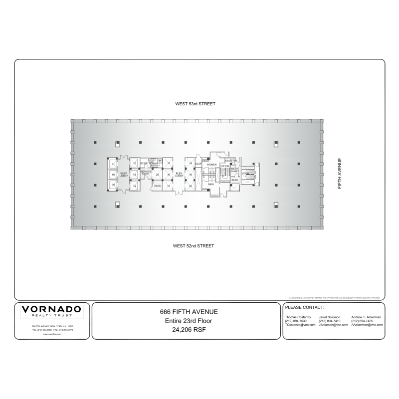 Floor plan for 116 west 23rd street 5th floor new york ny 10011