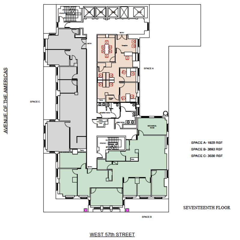 Floor plan for 17th floor on 100 floors