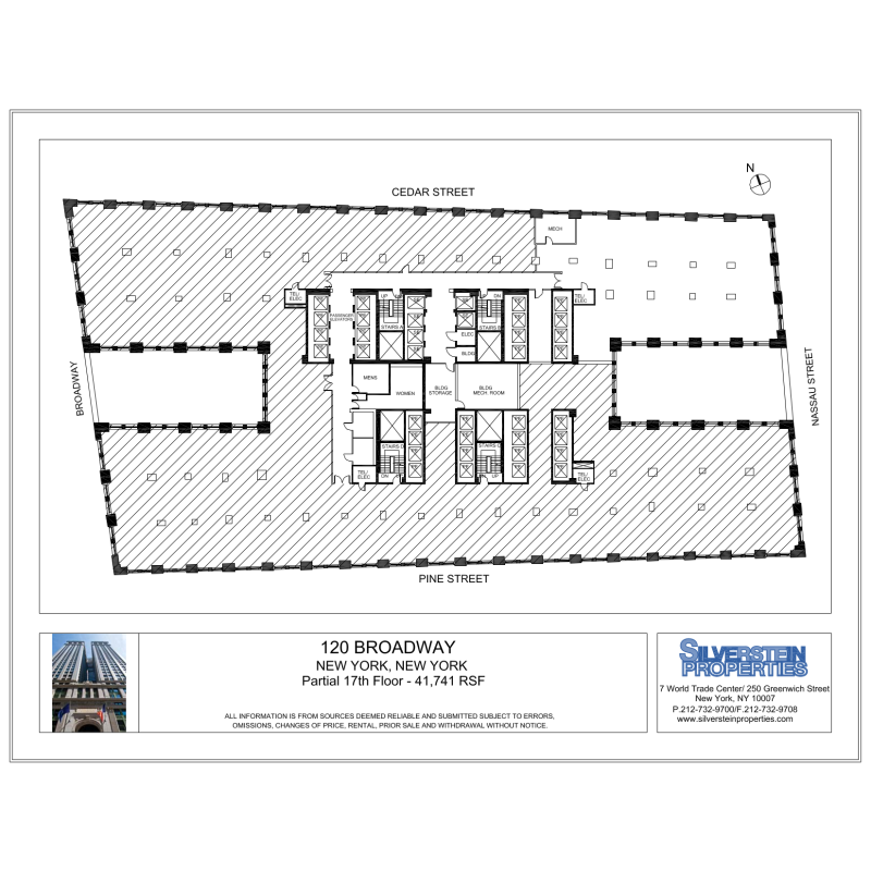Floor plan for 120 broadway 5th floor new york ny 10271