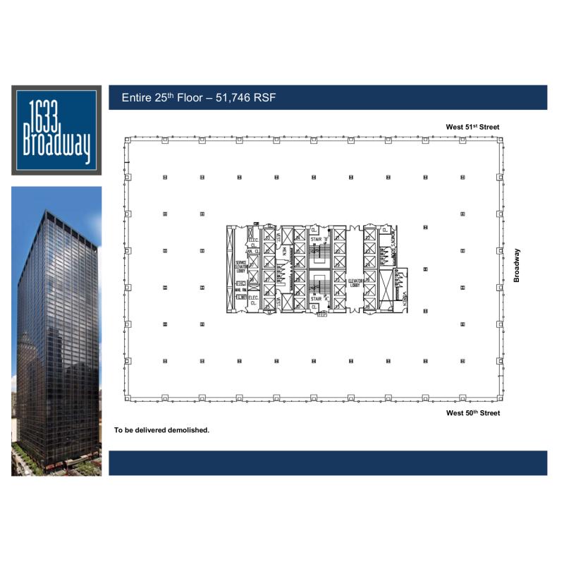 Floor plan for 1633 broadway 28th floor new york ny 10019